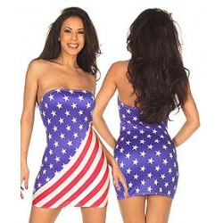 AMERICAN FLAG PRINT DRESSES IN any Flag also