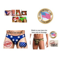 Men's Flag speedo IN any flag