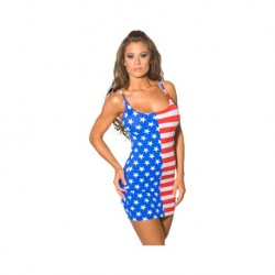 IN any FLAG PRINT DRESSES